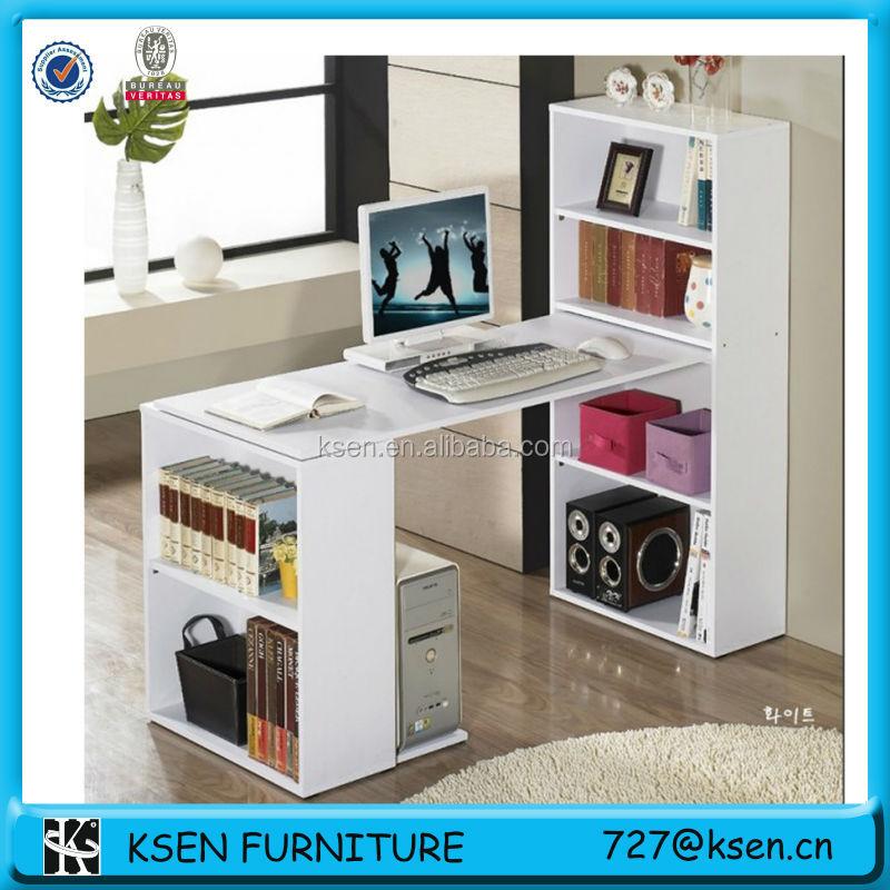 cheap computer desks with storage shelf for sale kc t316. Black Bedroom Furniture Sets. Home Design Ideas