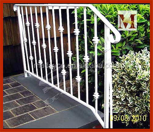 Outdoor steel stair railings price lowes wrought iron railings buy outdoor steel stair for Lowes exterior wrought iron railings