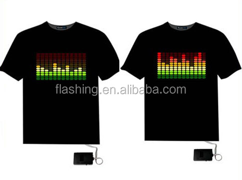 2015 Hot sell led shirt,EL Tshirt