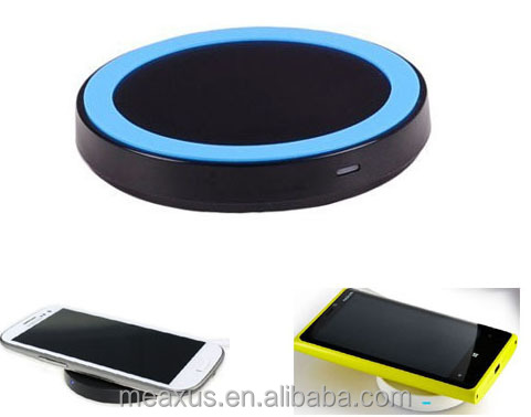 New Round Mini Qi Wireless Charger for Qi smart phones