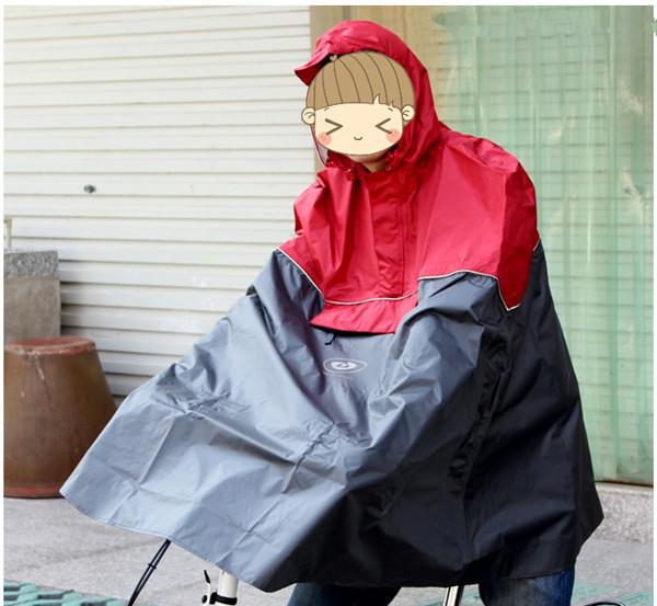 Мода, Велоспорт велосипедов велосипед дождь плащи мыс пончо ткань gear непромокаемые цвет синий/красный