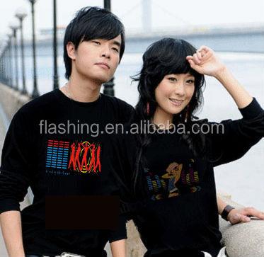 Hot sell led music shirt,EL Tshirt,LED TSHIRT