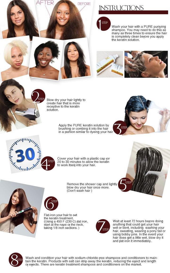 Средство для лечения волос и кожи головы PURE 5% 1000 3 100 Keratin -9