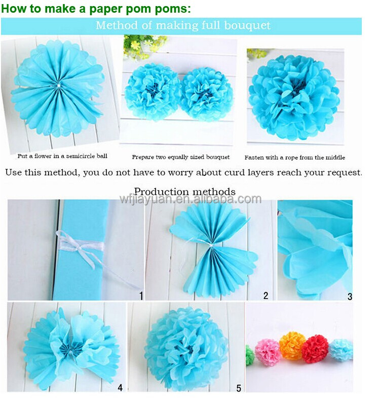 how to make a tissue paper ball decoration