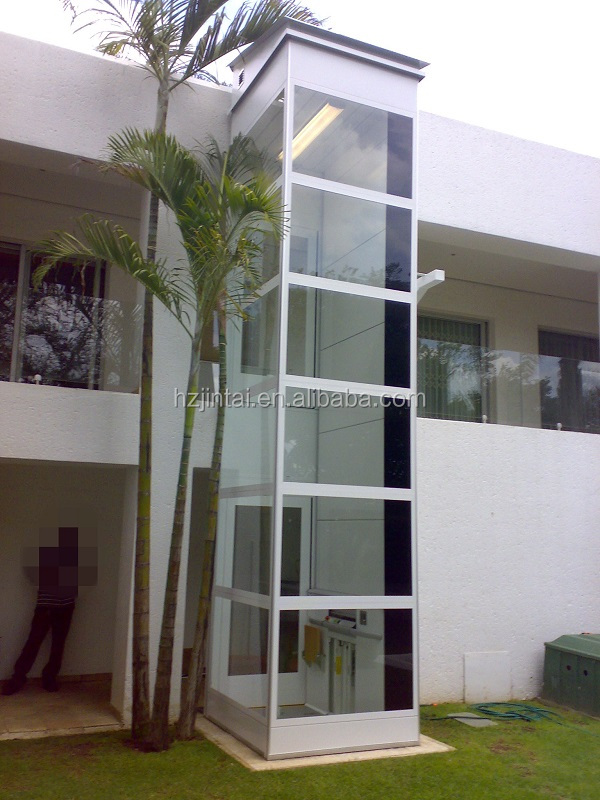 Small Glass Outdoor Elevator For Home View Outdoor