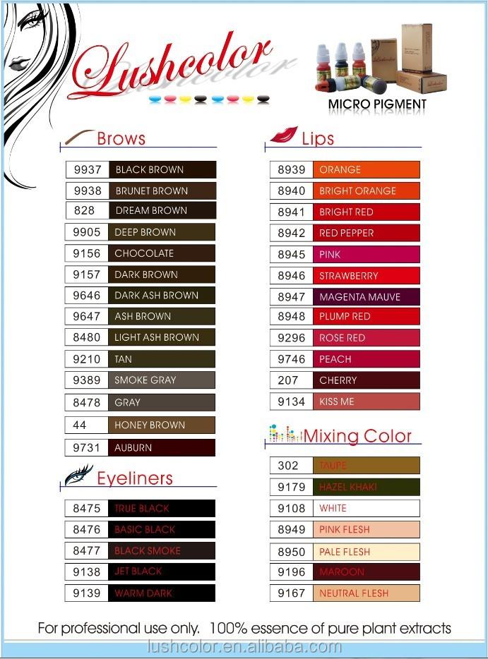 Best Semi Paste Permanent Makeup Pigments Dream Brown Tattoo Ink 8