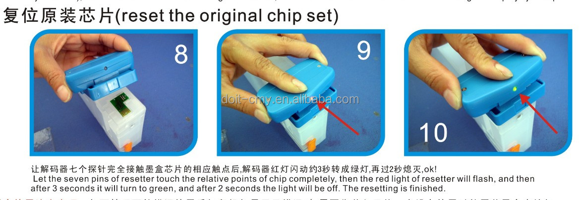 Resetting Original And One Time Compatible Chip,Chip