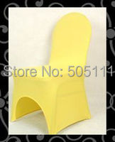 высокое качество Золотой спандекс стул крышка / лайкра стул крышку /banquet Кафедра прикрытие для свадьбы и другие события #45