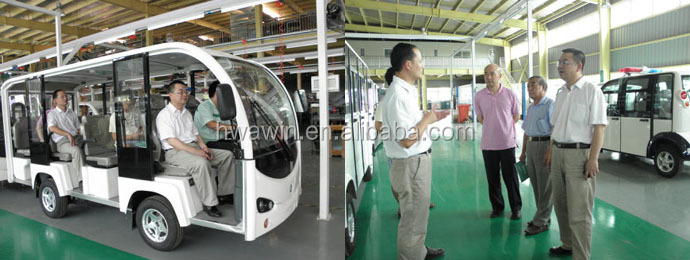 Hwawin factory 4 seats electric golf carts cars CE approved