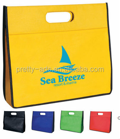 cheaper customized good quality pp non woven tote bags wholesale