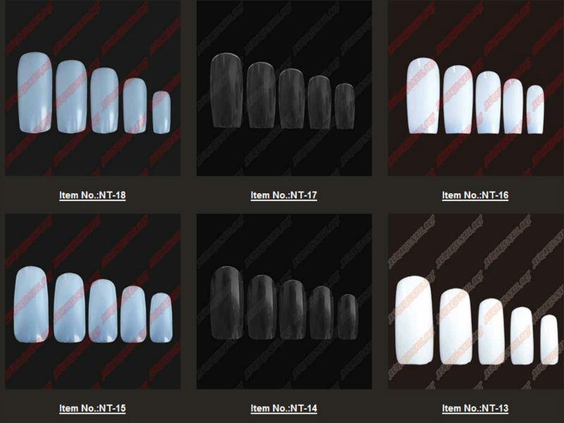 New Arrivals Salon Diy Natural Acrylic Nail Tips,Full Cover False ...