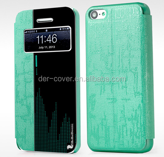 Hellodeere wallet case , for iphone 5c case with mirror