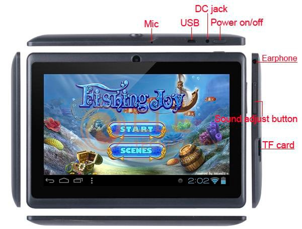 7 android 22 via wm8650 10ghz tablet pc with wi-fi, uv, 3g and resistive touch (4gb) (white)