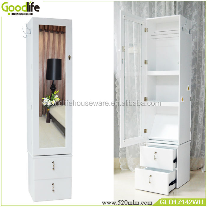 moderne grand tournant armoire miroir bijoux organisateur meubles en bois id de produit. Black Bedroom Furniture Sets. Home Design Ideas
