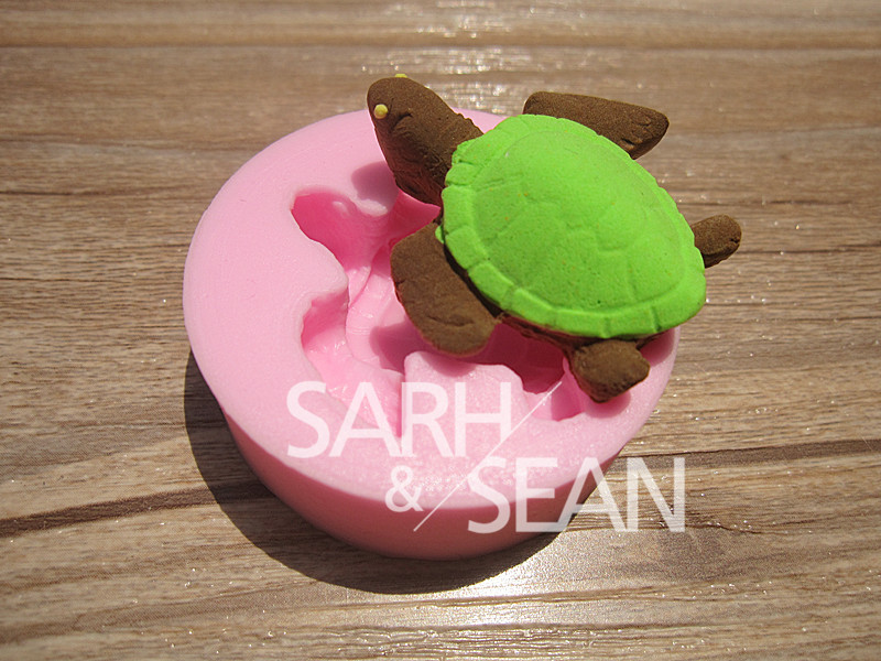 Fondant Cake Molds Uk : M0259 The little turtle fondant cake molds soap chocolate mould eBay