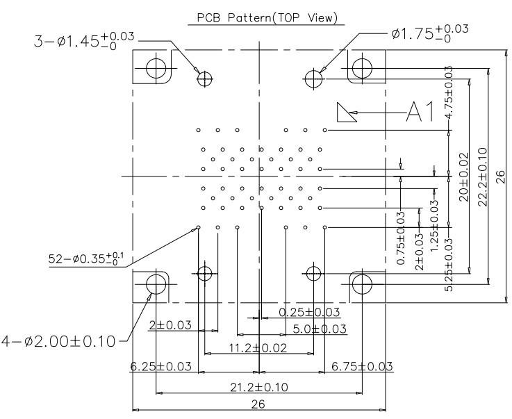 LGA52 PCB  Layout