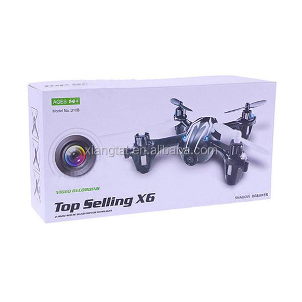 X6 2.4G 4CH RC Quadcopter wtih Camera and Light VS Hubsan X4 H107C UFO RTF