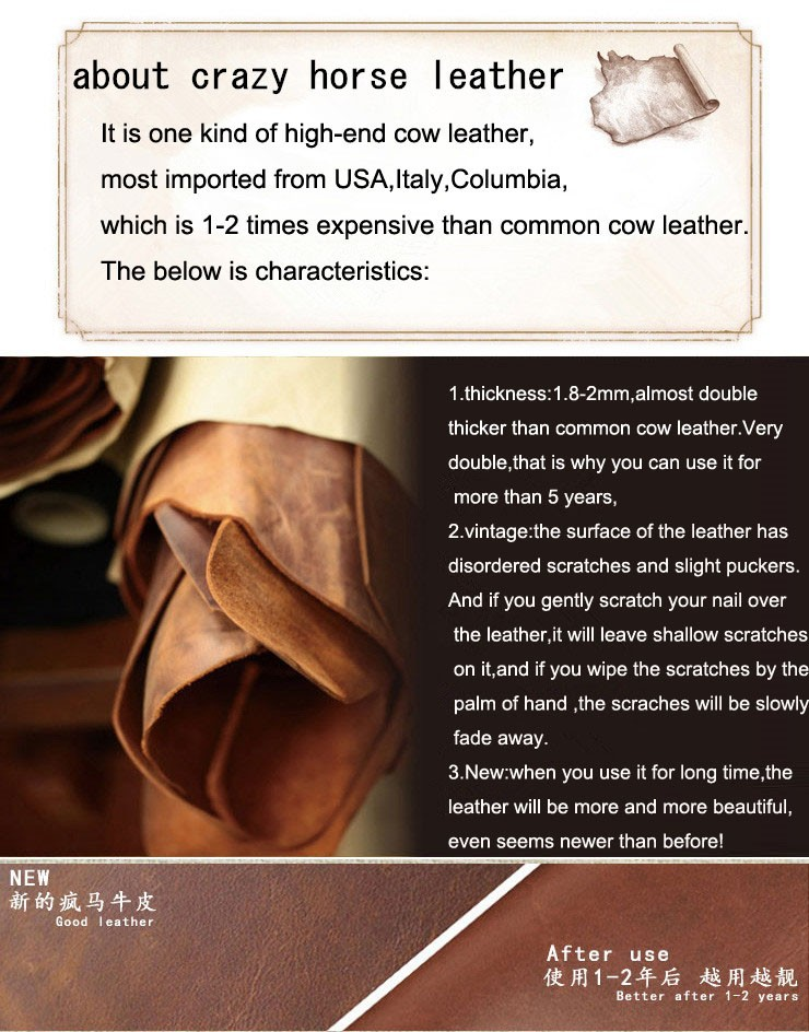 about crazy horse leather
