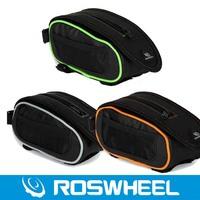 Велосипедная корзина Roswheel Waterproof Cycling Bicycle Bike Frame Pannier Front Tube Bag Head Tube Bag Top Tube Bag + Rain Cover Green Orange Gray