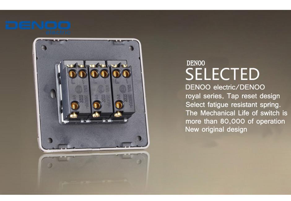 Настенный переключатель Denoo ,   110 250V, 3 2 FA98923-XB