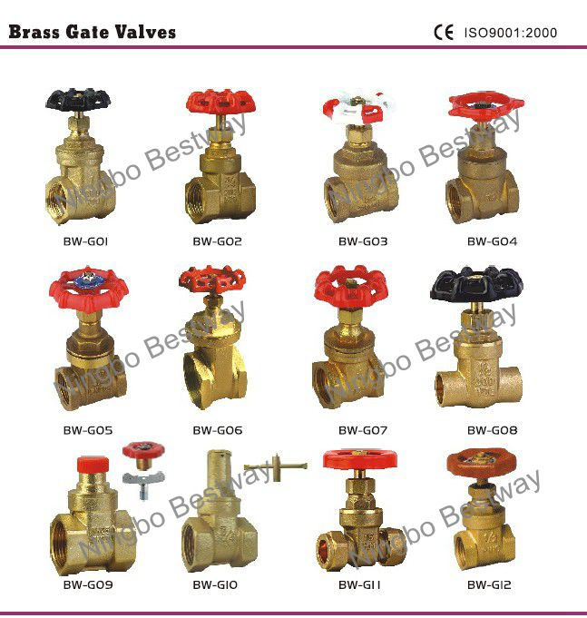 "1/2""-4"" Brass gate valve with Iron handwheel"