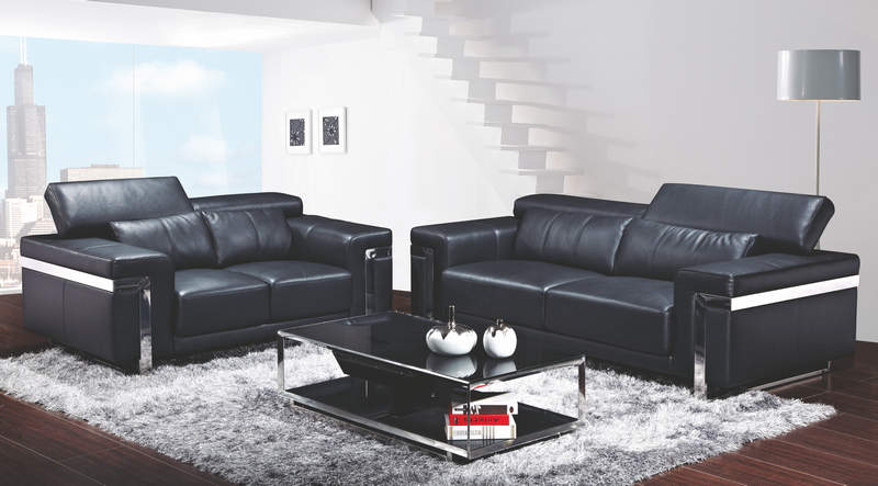 Fm068 latest leather hall sofa set designs for Sofa set designs for hall