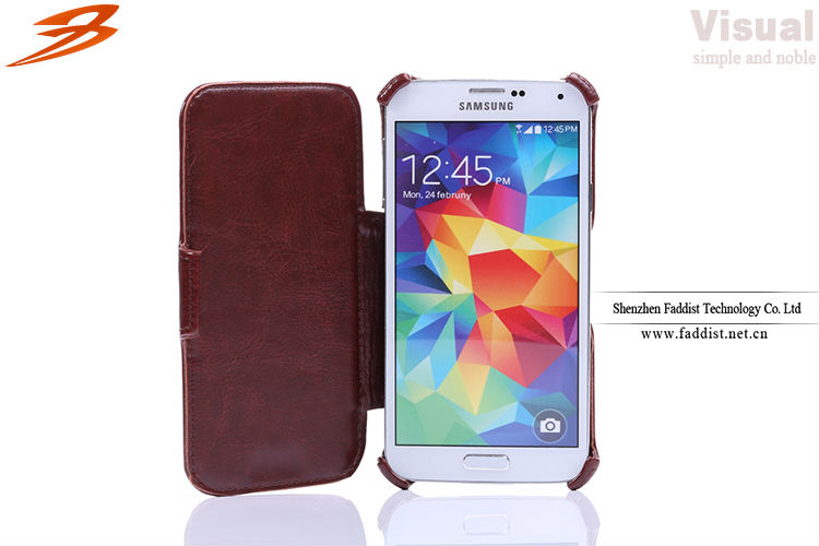 New design pu leather case for samsung s5 case