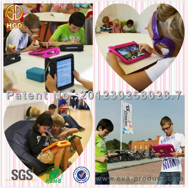 Pour iPad case, Enfants Tablet Case avec poignée, Enfant preuve cas de la tablette