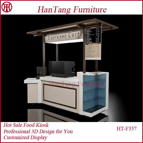 Indoor prefab coffee kiosk booth design with 3d max design for Indoor food kiosk design