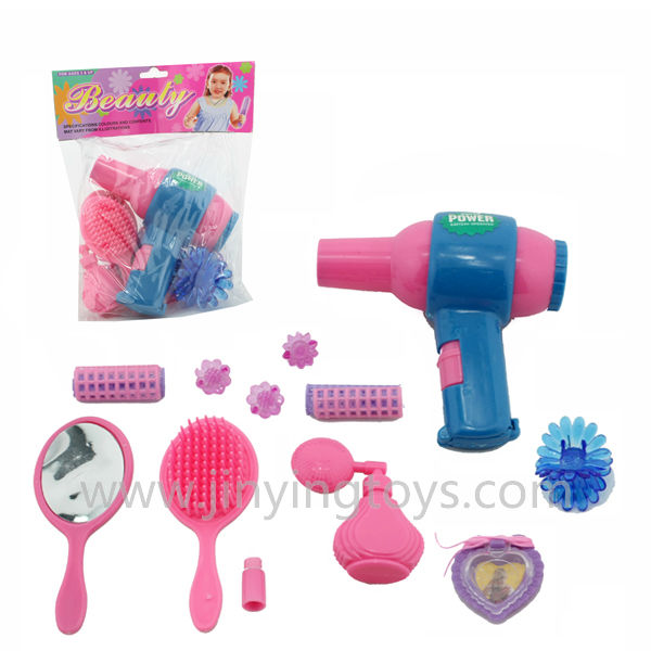 Hair dryer toy makeup kits play set for little girl hobbies plastic up ...