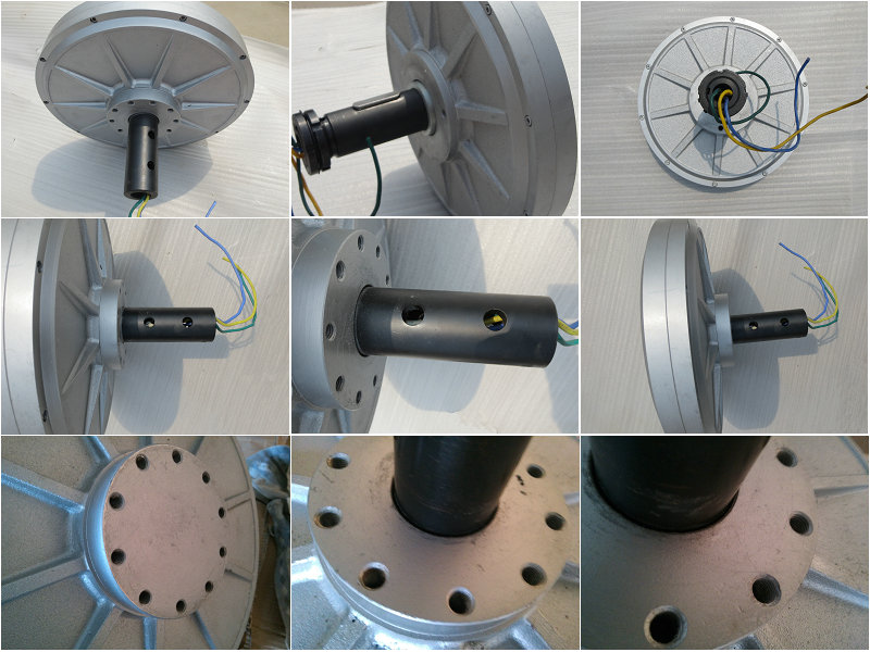 5kw Axial flux direct drive permanent magnet motor ,low speed low start torque
