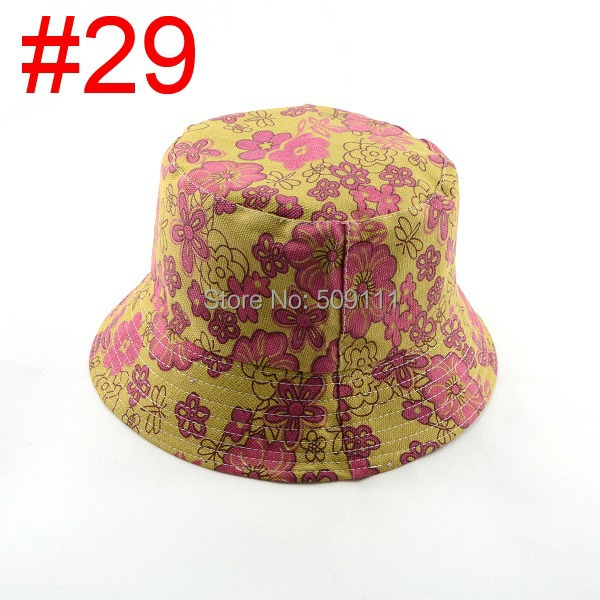 Женщины floral Sun Hat Flower Canvas Bucket Hat 33 design Summer Beach SunHat fishing caps 1pc WH001