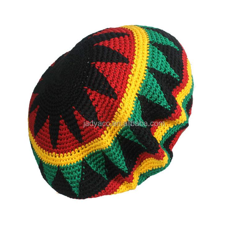 Jamaica Rasta Hat Crochet Pattern Beret Hat - Buy Rasta ...
