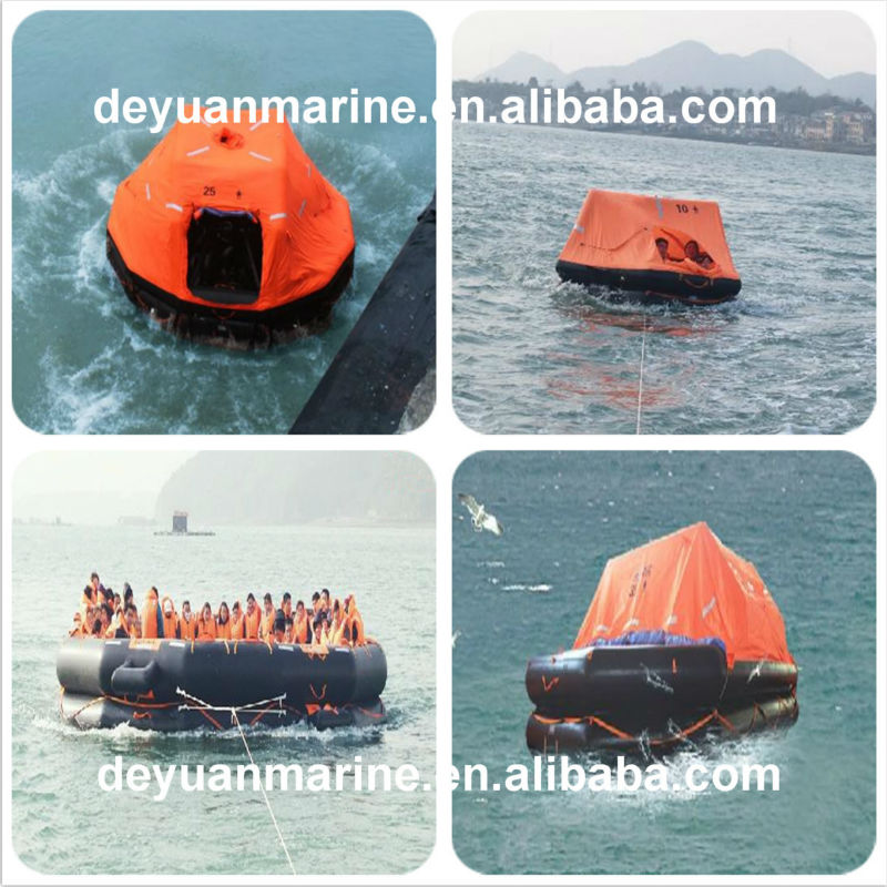 6 Person Throw-overboard Inflatable Liferaft with CCS certificate