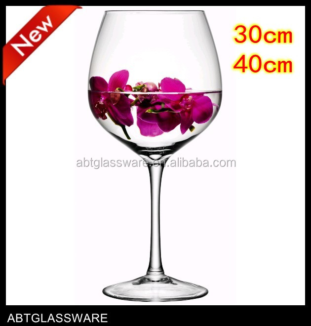 Tall Wine Glass Vases Buy Tall Wine Glass Vaseswine Shaped Glass