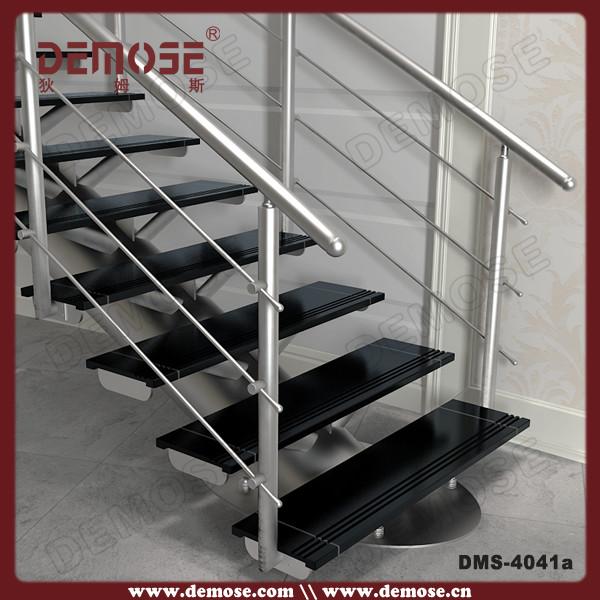 Dise os de interiores escaleras de madera con barandas de - Barandales modernos para escaleras ...
