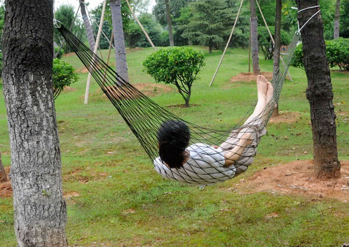 гамак Nylon Parachute Outdoor Portable Double Camping Hammock Good Sets for Reading and Resting ZYD027