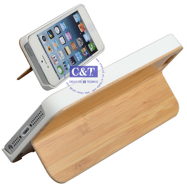 C&T Wholesale cell phone accessories Wood designer case for phone 5s