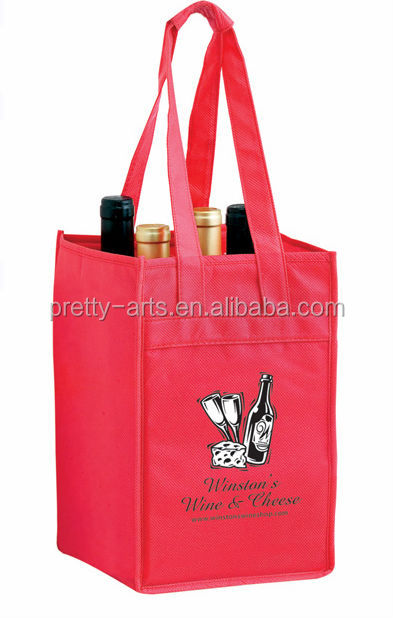 new hot sell good quality custom wine bottle bags