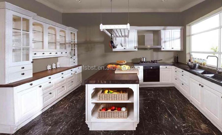 ak4007 prefab wood kitchen island american style for sale