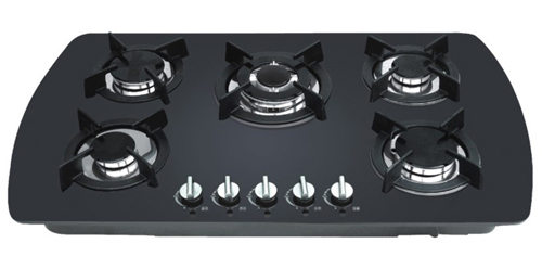5 Burners Glass Type Built In Gas Stove Gas Hob Gas Cooker