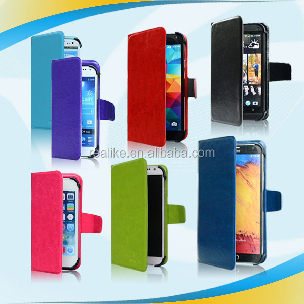 Ultrathin magnetic universal mobile phone case,wallet with 360 degree rotation phone case
