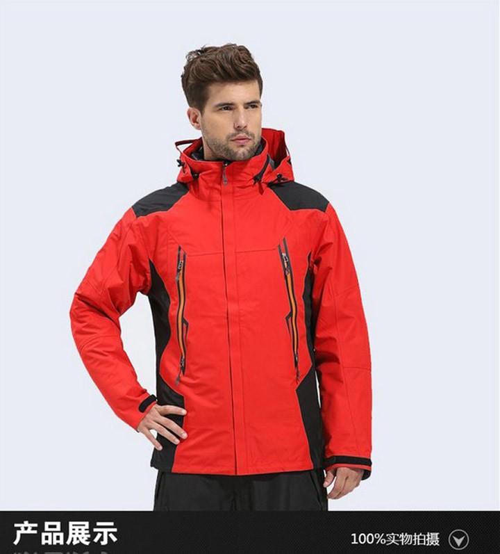 к 2015 году бренд мужчин зимний открытый жакет & пальто человек, поход Лыжный спорт пальто Пешие прогулки восхождение одежда + утка вниз пальто + s-2xl