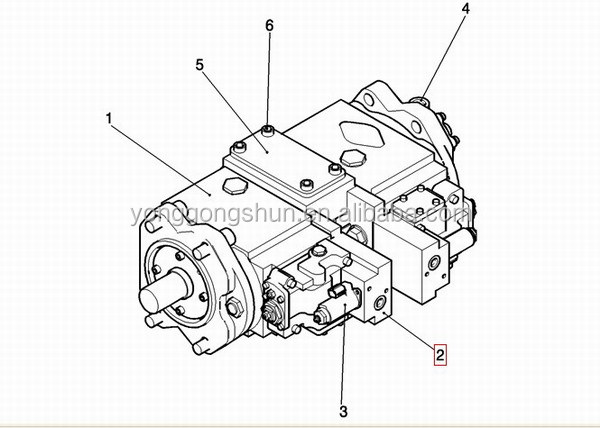 kobelco excavator hydraulic pump regulator assy