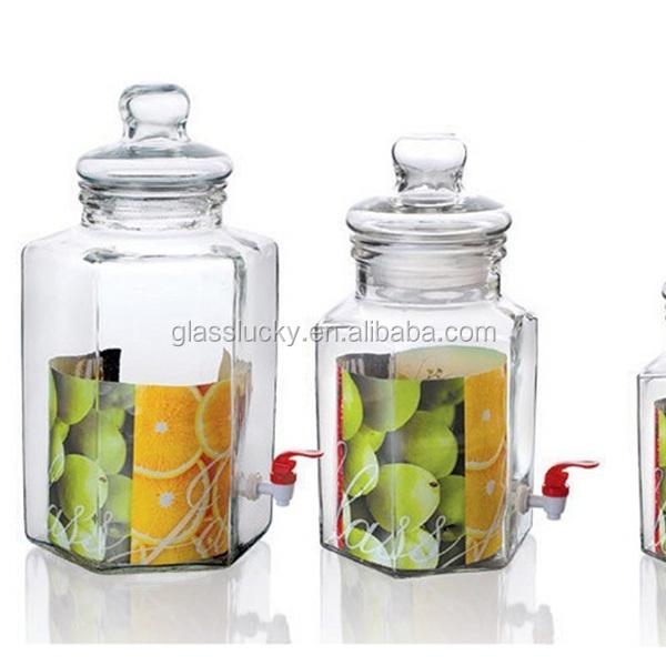 2016 vente chaude g ant herm tique 10l bocaux en verre avec robinet en grossiste bouteilles. Black Bedroom Furniture Sets. Home Design Ideas