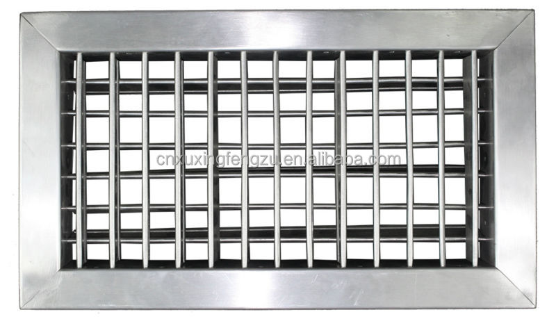 Adjustable air conditioning window grill design stainless for Door ventilation design