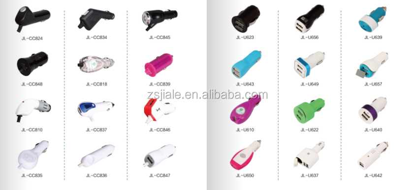 China supplier wholesale i9v 2a car charger for the consumer electronic with led light