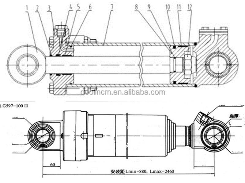 D40 D41 D45 Excavator Hydraulic Arm Cylinder - Buy ...
