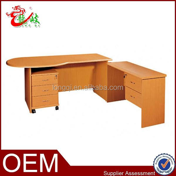 High quality home computer desk online office furniture curved design office table with mobile - Quality home office desk ...