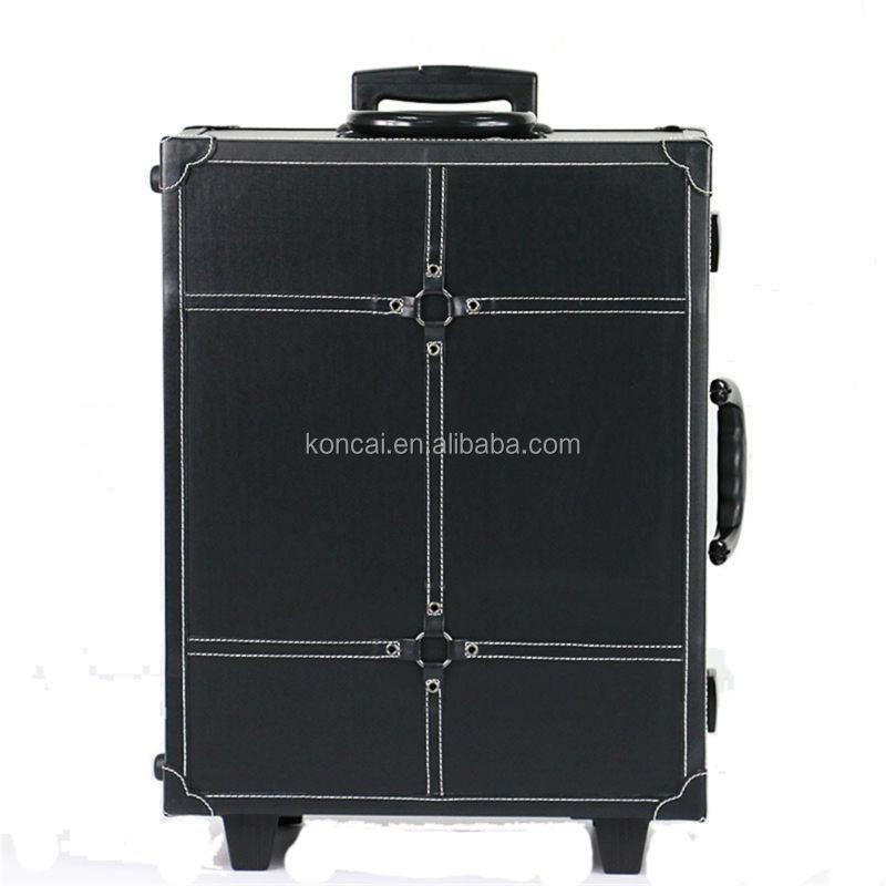 Moq 1pc Large Professional Pvc Leather Mobile Makeup Table